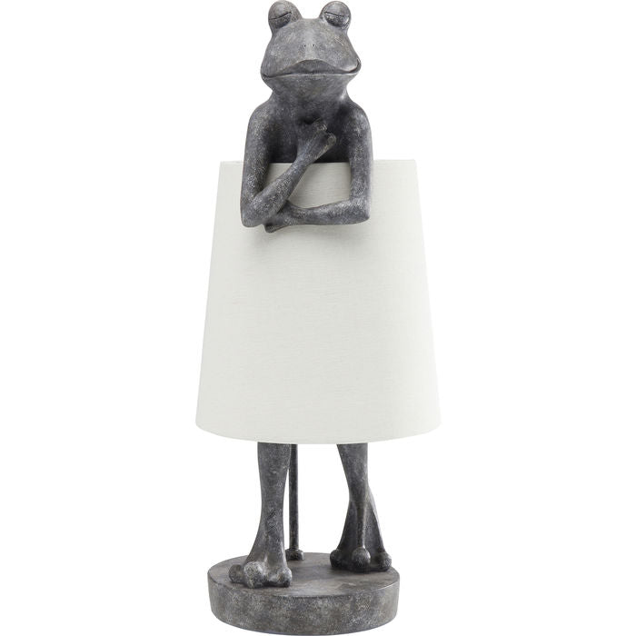 Grey Frog Table Lamp