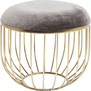Faux Fur Acrylic Stool