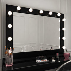 Marilyn Hollywood Mirror in Black Gloss Landscape 80 x 110cm