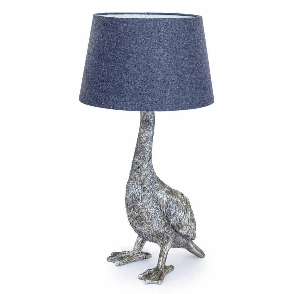 Goose Table Lamp with Grey Shade