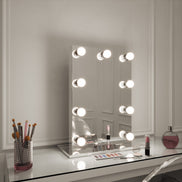 Round Freestanding Hollywood Mirror