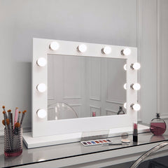 Hollywood Mirror in White Gloss Landscape 60 x 80cm