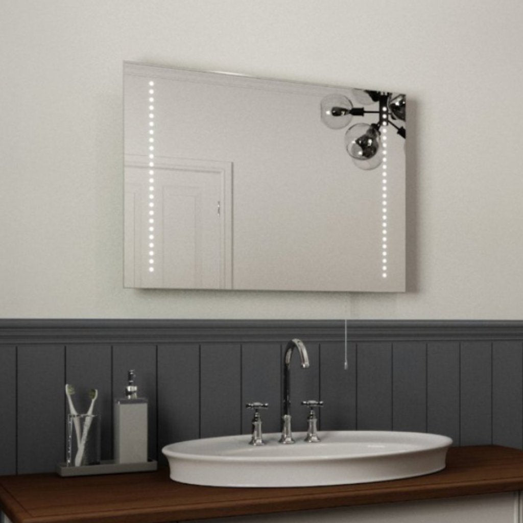 Battery Operated Illuminated Bathroom Mirror 50x70cm