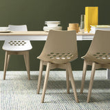 Calligaris Jam Chair with Wooden Legs