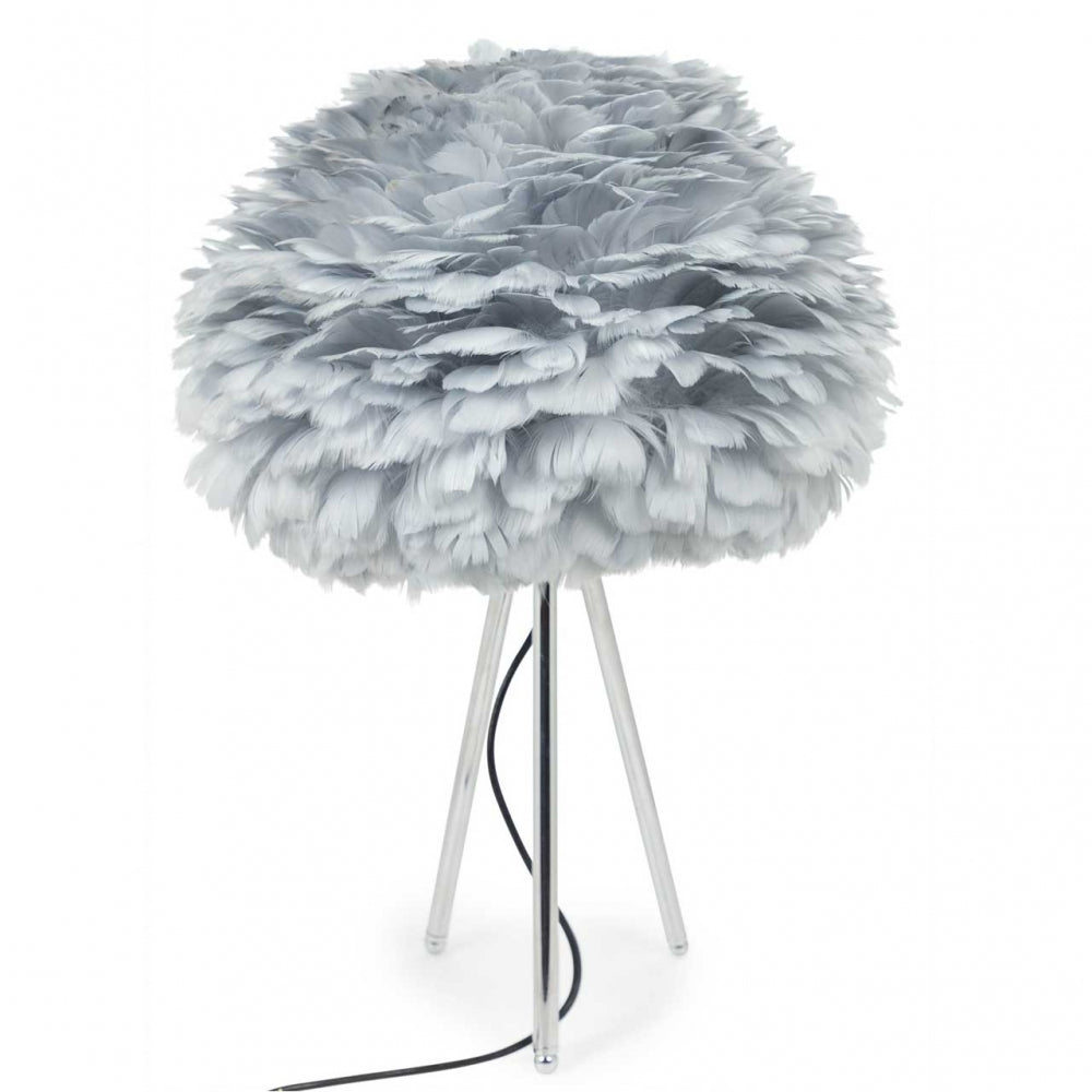 Grey Goose Feather Table Lamp
