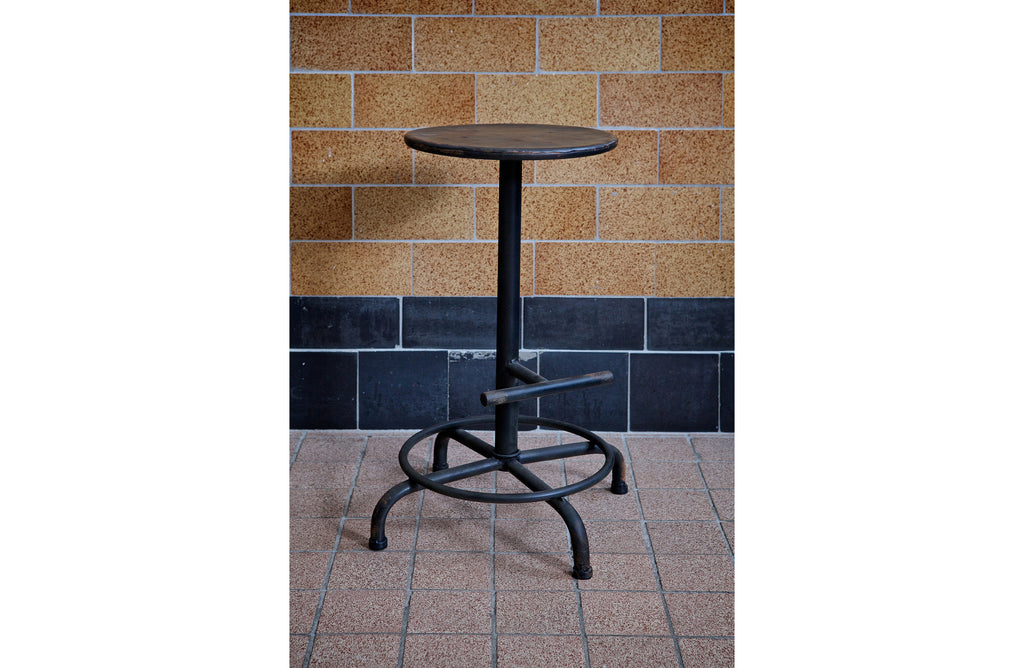 Metal Step Industrial Bar Stool Black Deeekhorn