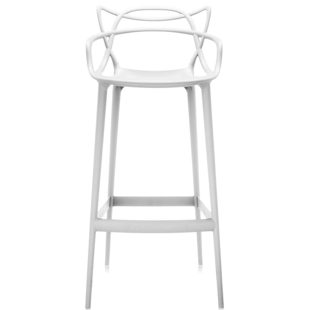 Kartell Masters Stool  Large / White - 1 IN STOCK: www.decorelo.co.uk