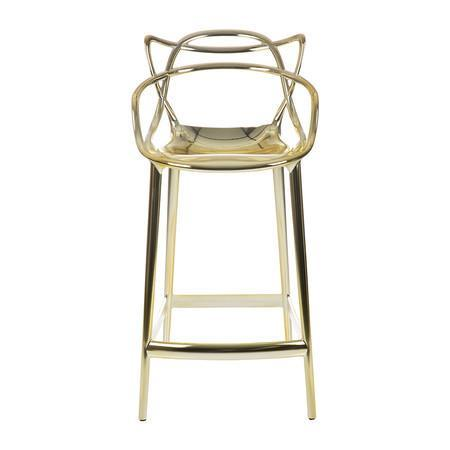 Kartell Masters Stool  Medium / Gold: www.decorelo.co.uk