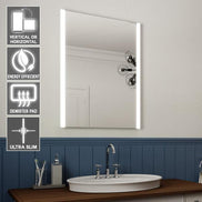 Hollywood Mirror Portrait 80 x 60cm Free Standing + Wall Mounted