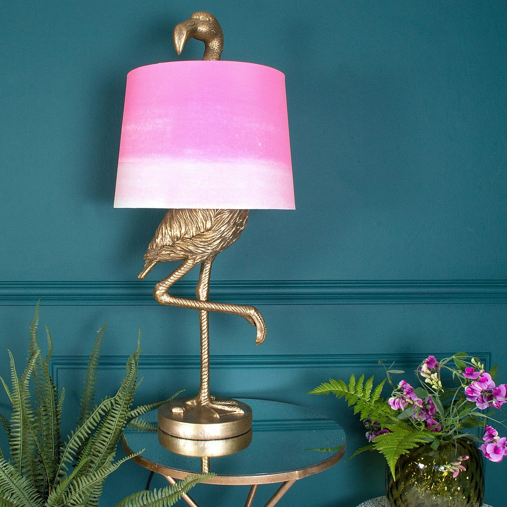 flamingo table lamp antique gold