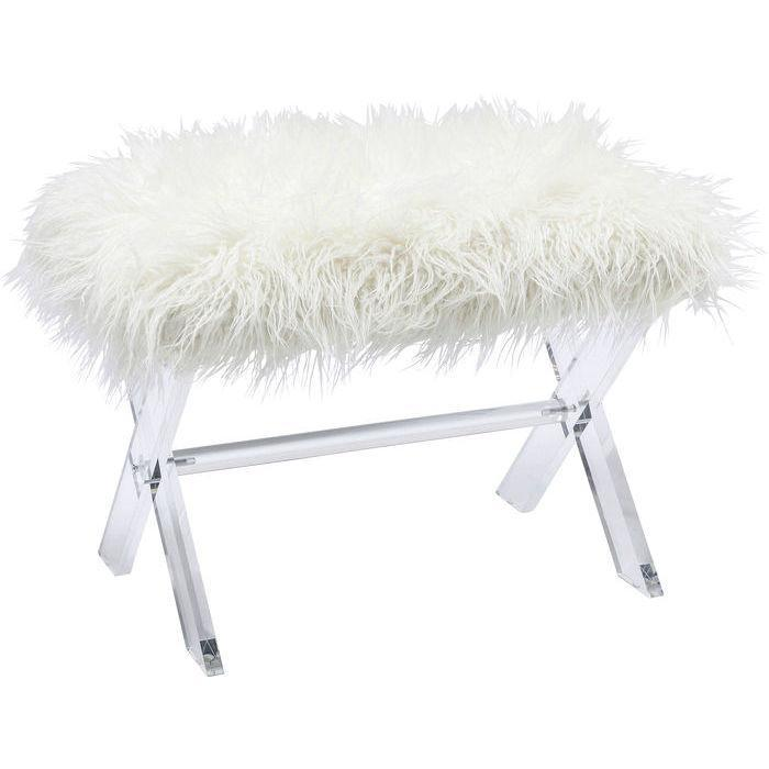 Faux Fur Acrylic Stool  : www.decorelo.co.uk