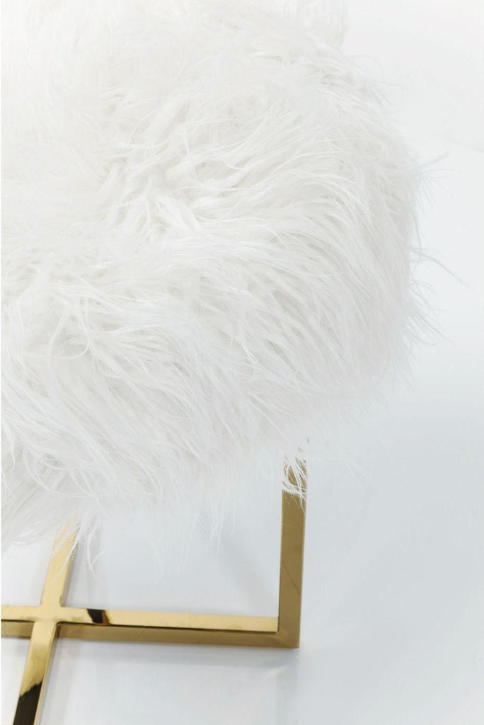 Mr Fluffy Gold Faux Fur Stool  : www.decorelo.co.uk