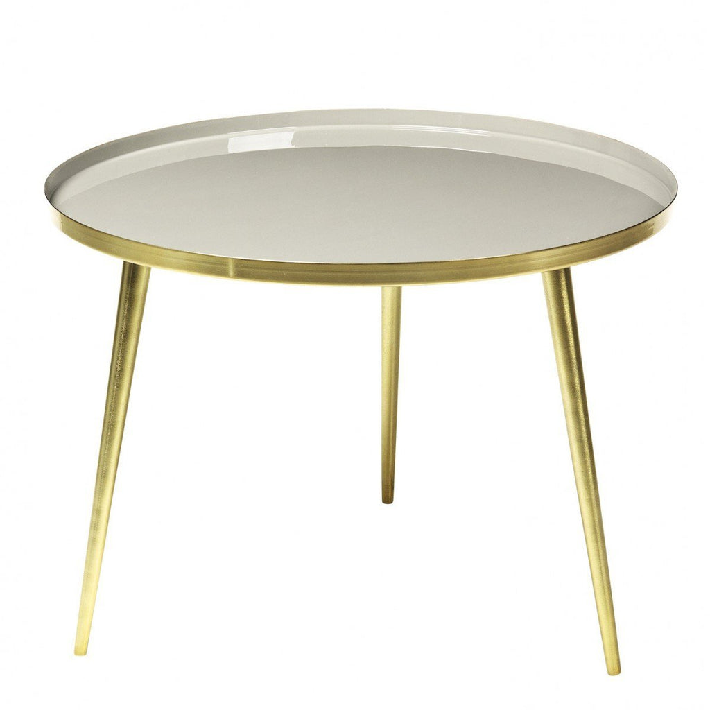 Broste Copenhagen Jelva Coffee Table  Brass Base - Simply Taupe Top - IN STOCK: www.decorelo.co.uk