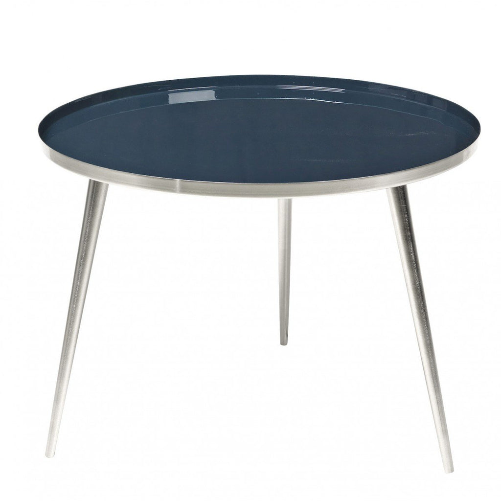 Broste Copenhagen Jelva Coffee Table  Steel Base - Insigna Blue Top: www.decorelo.co.uk
