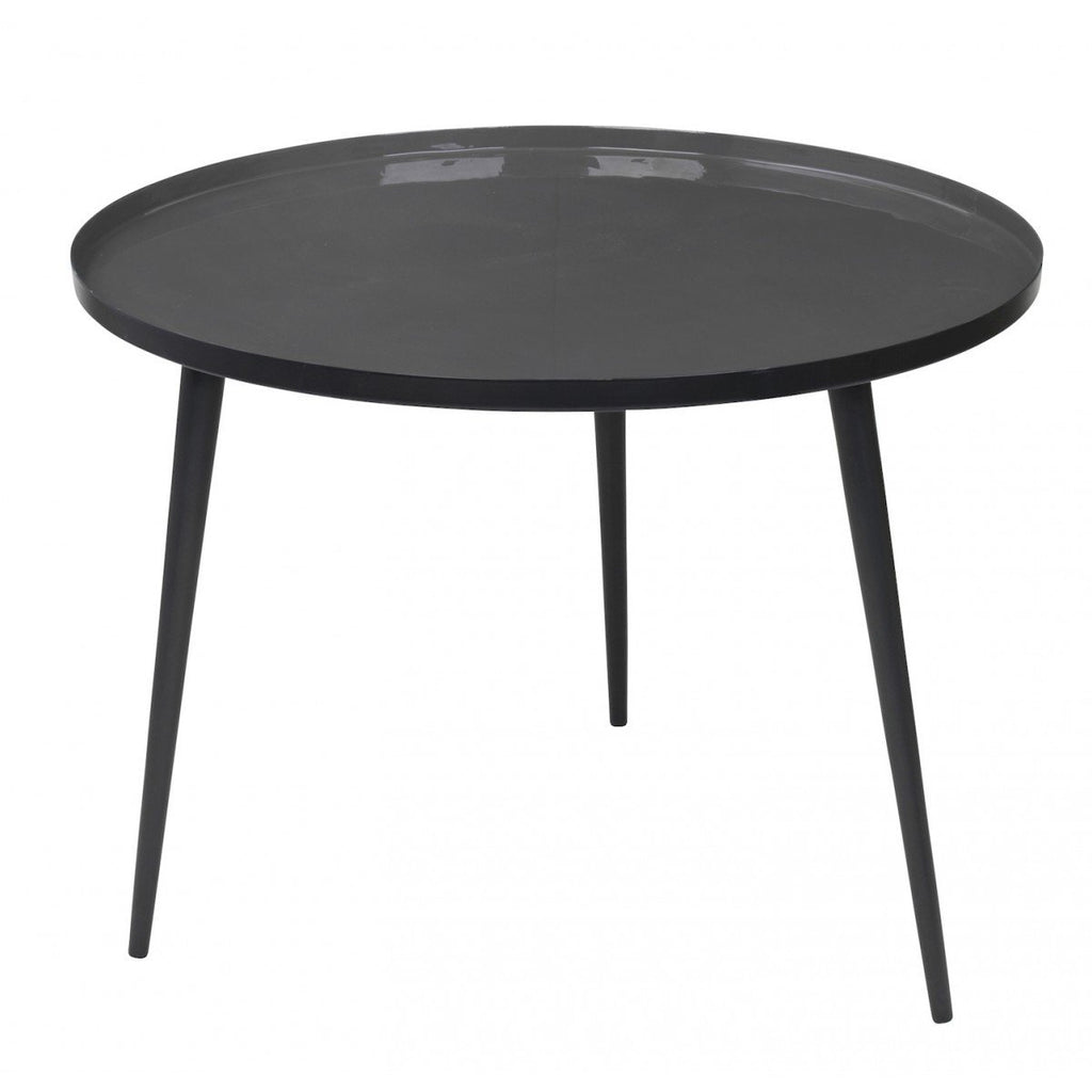 Broste Copenhagen Jelva Coffee Table  Black Base - Smoked Pearl Top: www.decorelo.co.uk