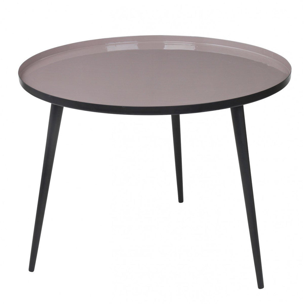 Broste Copenhagen Jelva Coffee Table  Black Base - Dove Top: www.decorelo.co.uk