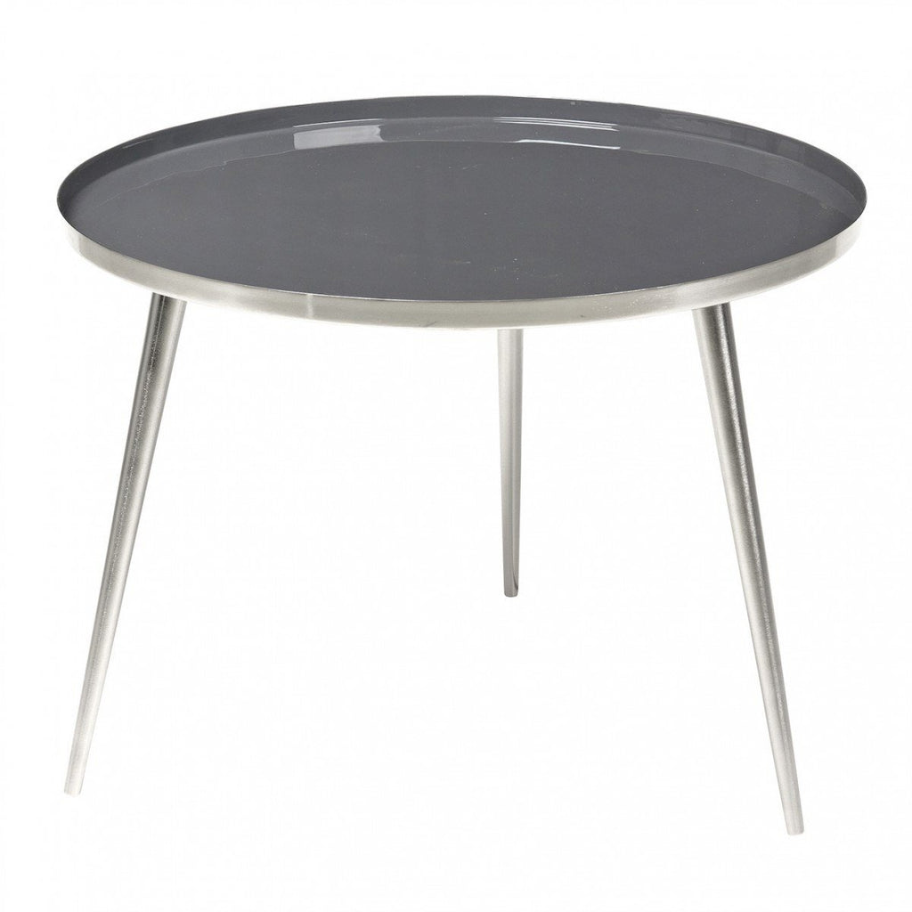 Broste Copenhagen Jelva Coffee Table  Steel Base - Castlerock Top: www.decorelo.co.uk