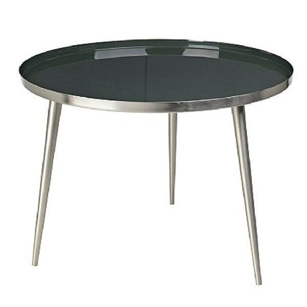 Broste Copenhagen Jelva Coffee Table  Nickel Base - Deep Forest Top: www.decorelo.co.uk