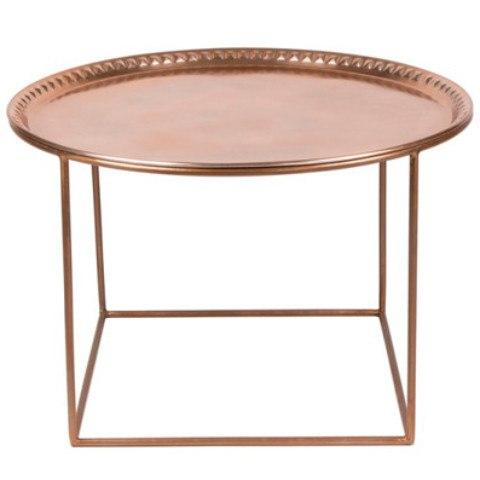 Furniture,Brands - Broste Copenhagen Zyan Copper Tray Table