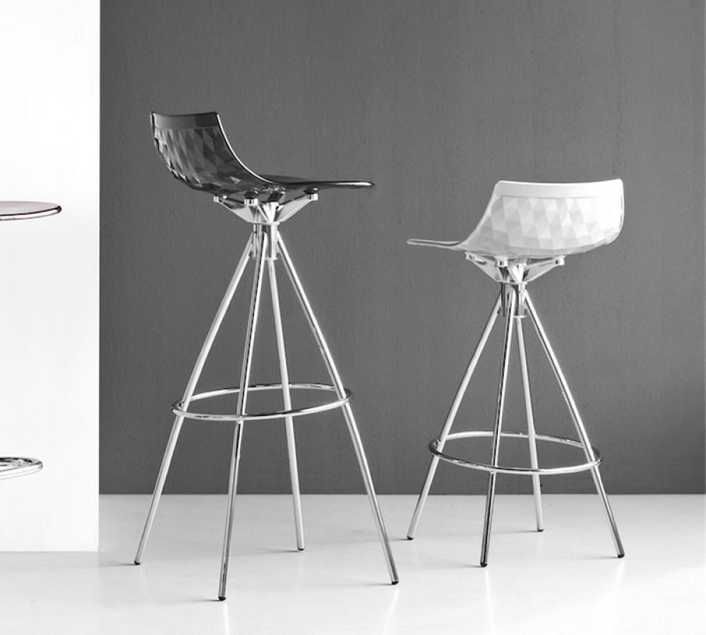 Calligaris Ice Barstool  65cm / Chrome / Glossy White: www.decorelo.co.uk