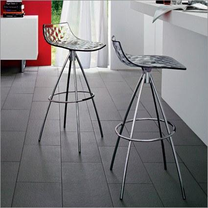 Calligaris Ice Barstool  65cm / Chrome / Transparent Smoked Grey: www.decorelo.co.uk