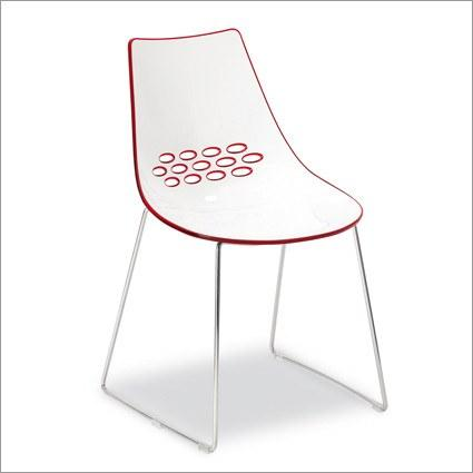 Calligaris Jam Chair with Sleigh Legs  Red: www.decorelo.co.uk