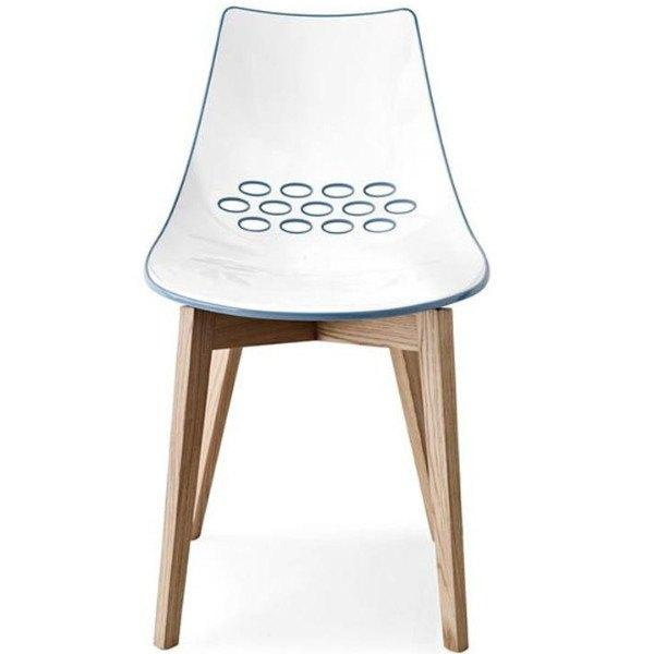 Furniture,Brands - Calligaris Jam Chair With Wooden Legs