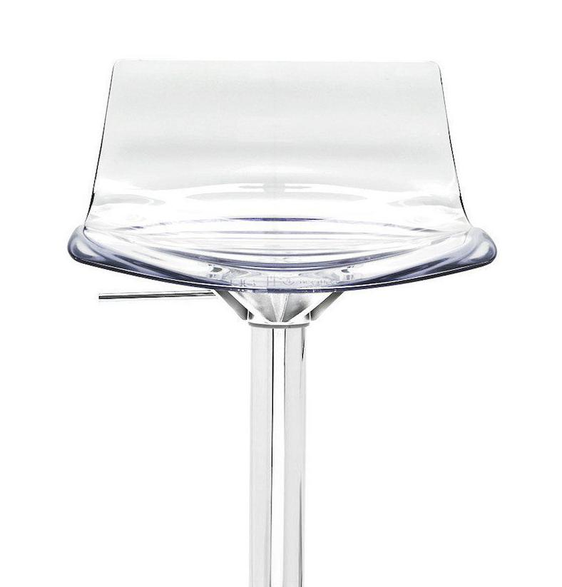 Calligaris L'eau Adjustable Lightweight Bar Stool  Smoke Grey: www.decorelo.co.uk