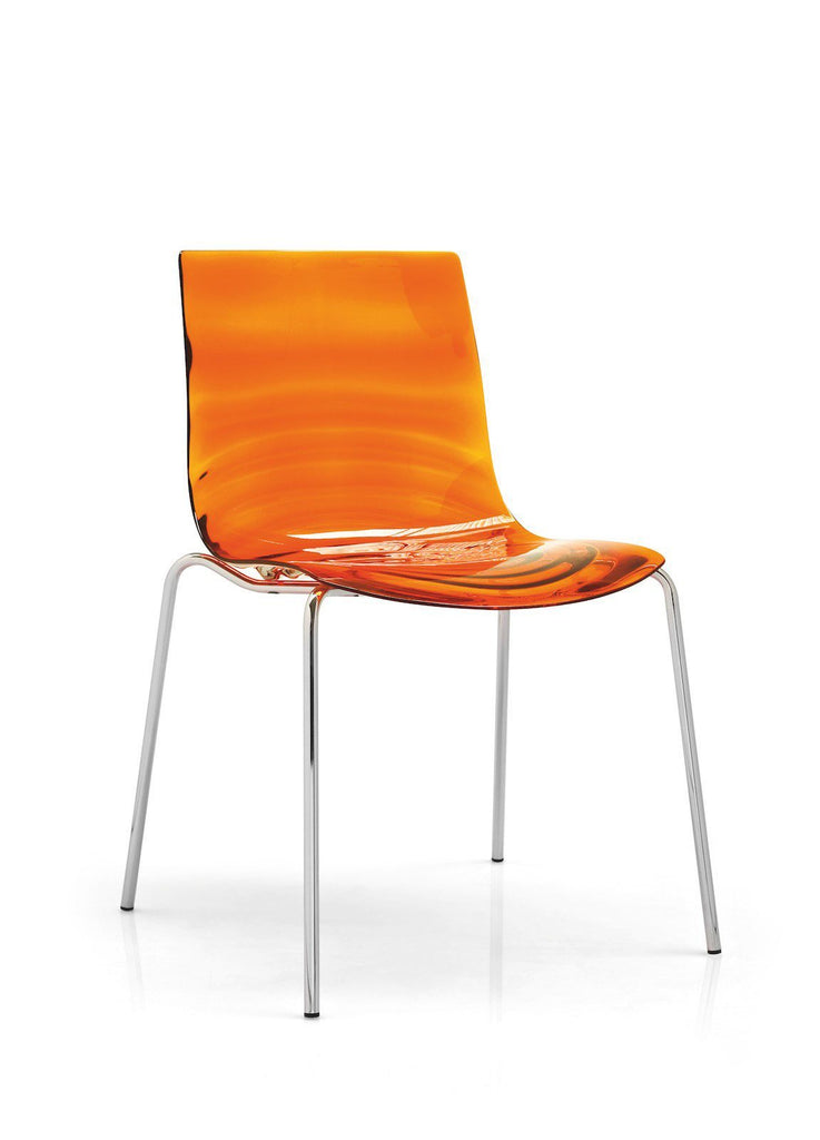 Calligaris L'eau Stackable Chair  Chrome / Orange: www.decorelo.co.uk