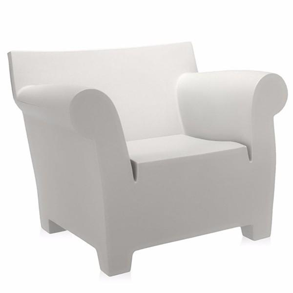 Kartell Bubble Club Chair  Zinc White: www.decorelo.co.uk