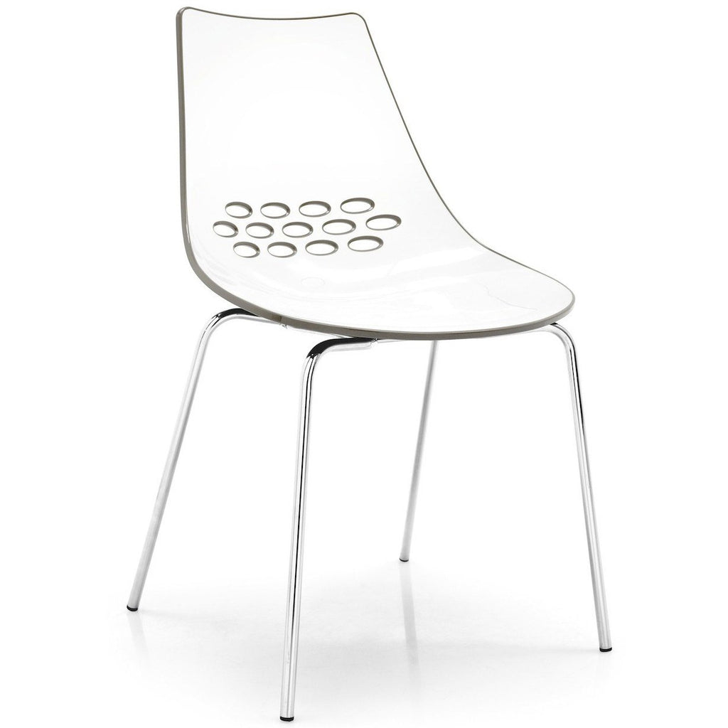 Calligaris Jam Chair with Straight Chrome Legs  : www.decorelo.co.uk