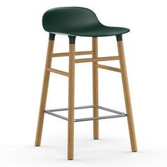 Normann Copenhagen Form Barstool  65cm / Oak / Green: www.decorelo.co.uk