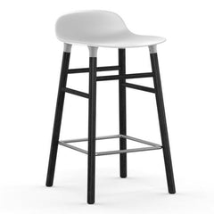 Normann Copenhagen Form Barstool  65cm / Black / White: www.decorelo.co.uk