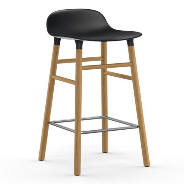 Normann Copenhagen Form Barstool  65cm / Oak / Black: www.decorelo.co.uk
