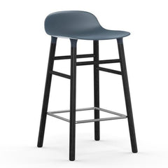 Normann Copenhagen Form Barstool  65cm / Black / Blue: www.decorelo.co.uk