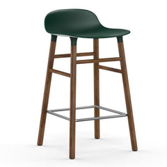 Normann Copenhagen Form Barstool  65cm / Walnut / Green: www.decorelo.co.uk