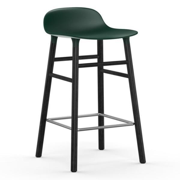 Normann Copenhagen Form Barstool  65cm / Black / Green: www.decorelo.co.uk