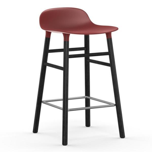 Normann Copenhagen Form Barstool  65cm / Black / Red: www.decorelo.co.uk