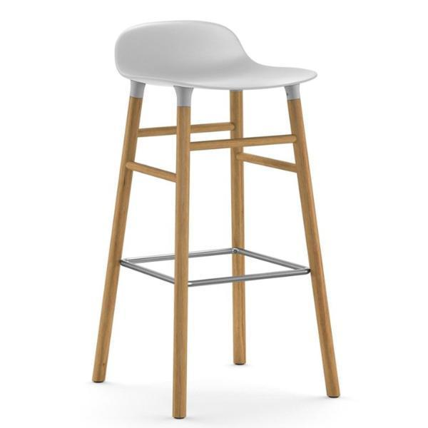 Normann Copenhagen Form Barstool  75cm / Oak / White: www.decorelo.co.uk