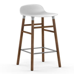 Normann Copenhagen Form Barstool  65cm / Walnut / White: www.decorelo.co.uk