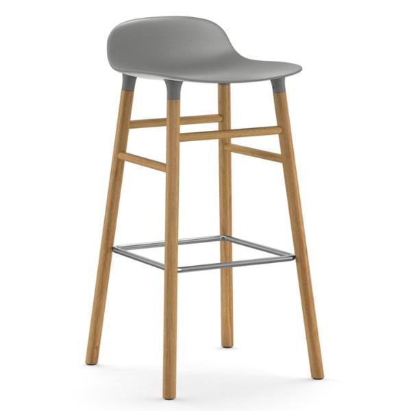 Normann Copenhagen Form Barstool  75cm / Oak / Grey: www.decorelo.co.uk