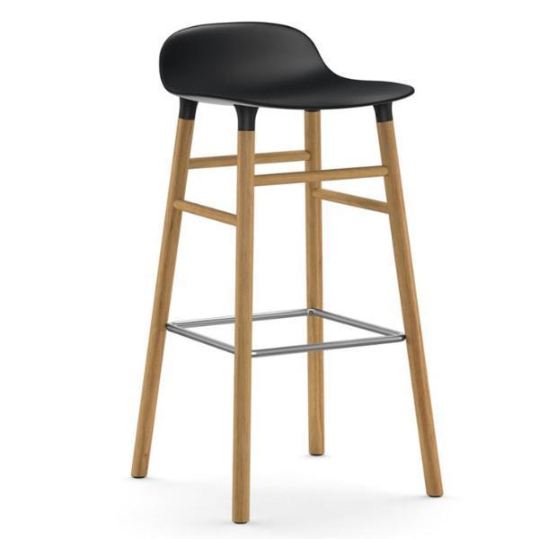 Normann Copenhagen Form Barstool  75cm / Oak / Black: www.decorelo.co.uk