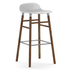 Normann Copenhagen Form Barstool  75cm / Walnut / White: www.decorelo.co.uk