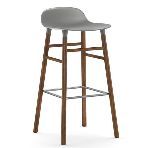 Normann Copenhagen Form Barstool  75cm / Walnut / Grey: www.decorelo.co.uk