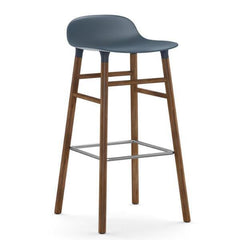 Normann Copenhagen Form Barstool  75cm / Walnut / Blue: www.decorelo.co.uk