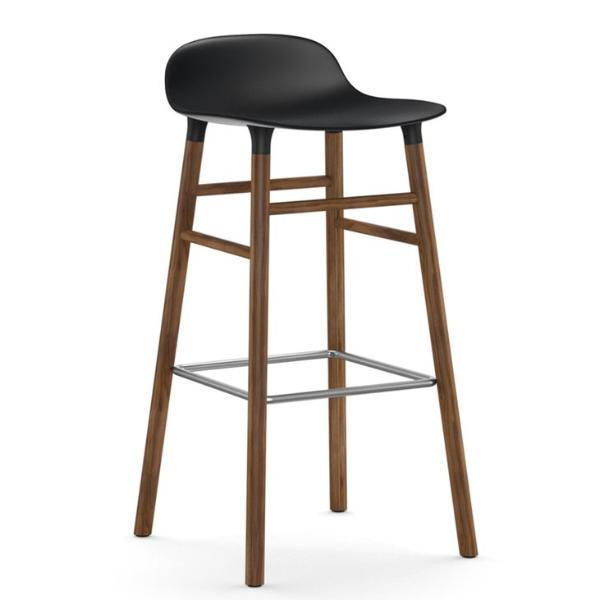 Normann Copenhagen Form Barstool  75cm / Walnut / Black: www.decorelo.co.uk