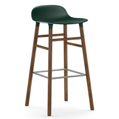 Normann Copenhagen Form Barstool  75cm / Walnut / Green: www.decorelo.co.uk
