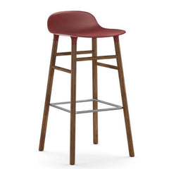 Normann Copenhagen Form Barstool  75cm / Walnut / Red: www.decorelo.co.uk