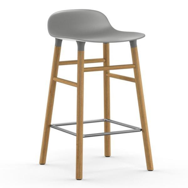 Normann Copenhagen Form Barstool  65cm / Oak / Grey: www.decorelo.co.uk