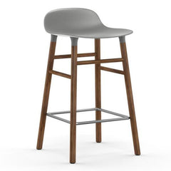 Normann Copenhagen Form Barstool  65cm / Walnut / Grey: www.decorelo.co.uk